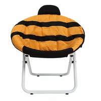 HLC Cartoon Designer Chair Style Bee Inspired Side Dining Chair Lounge Living Room Office Chair Lazy