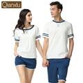 Couple Pajamas Sets Summer Fashion Cotton Short Sleeves Women Men Sleepwear Nightwear Pyjamas Home Lounge T-shirt & Shorts
