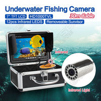 Free Shipping EYOYO 30m 7 LCD Monitor HD 1000TVL Fish Finder Infrared Ice Sea Fishing Camera