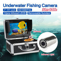 Free Shipping EYOYO 30m 7 LCD Monitor HD 1000TVL Fish Finder Infrared Ice Sea Fishing Camera