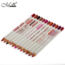 12Pcs/Set True Lips 12 Colors Lip liner Pencil Waterproof Lip 12g Makeup Brand M.N MENOW #P14002