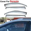 4pcs/lot Window Visors Sun Rain Shield Covers Car Styling Awnings Shelter For KIA Sorento 2009 2010 2011 2012 2013 2014