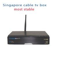 Últimas V9 Pro más estable Singapur starhub tv box receptor combo DVB-S2/T2/C como como V8 de oro con USB WiFi
