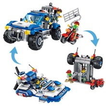 2 IN 1 Police Pickup Compatible With Legoing Technic Series The Raptor Model Building Blocks Set Toys For Children dhl in stock lepin 16004 2232pcs the simpsons the kwik e mart model building blocks set clone 71016 toys for children