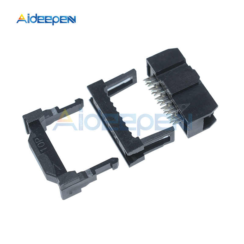 10 Buah/Banyak IDC Wanita Judul 2.54 Mm 2X5 Pin 10 Pin FC-10 FC-14 Konektor Soket