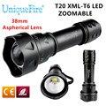 Uniquefire UF-T20-XM-L T6 Flashlight 10W White Light 5-Modes Waterproof Lantern 18650 Rechargeable 1200 Lumen