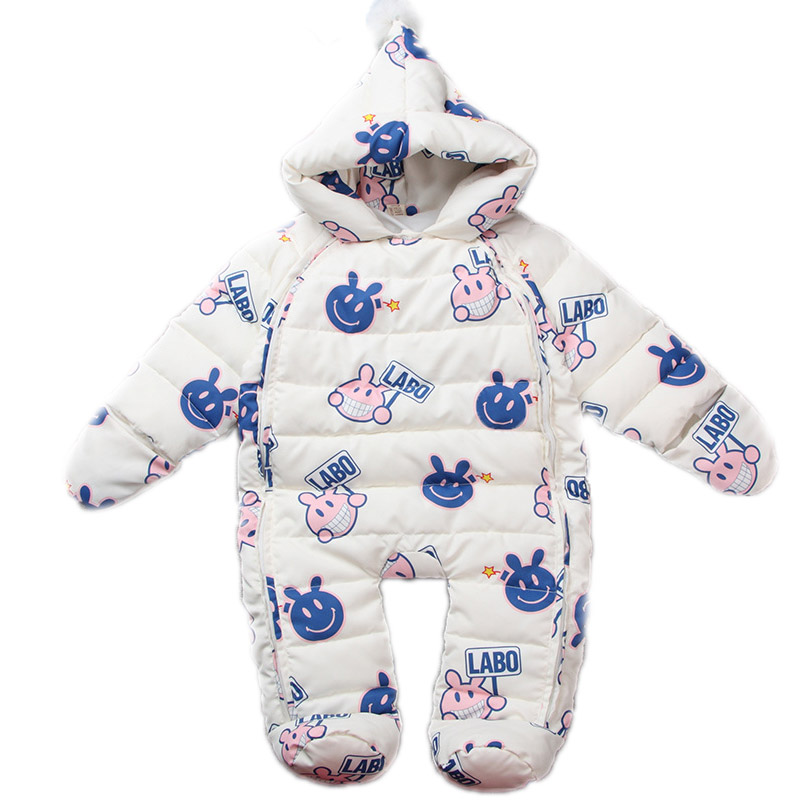 Baby Jumpsuit Winter 2016New Baby Winter Rompers Duck Down Hooded Jumpsuit Newborn Thermal Outwear Baby Boy & Girl Warm Clothes 2017 new baby rompers winter thick warm baby girl boy clothing long sleeve hooded jumpsuit kids newborn outwear for 1 3t