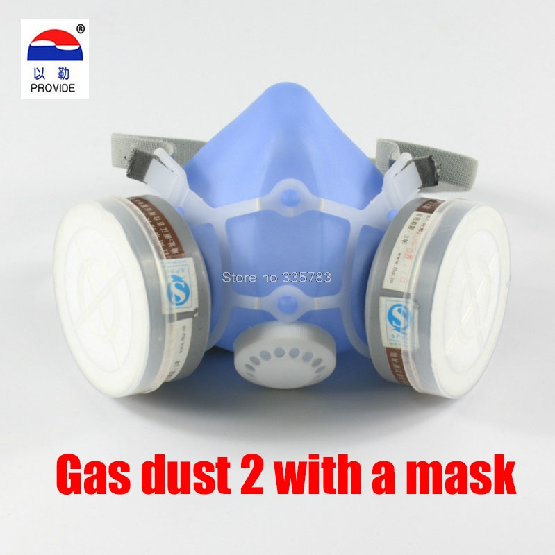 PROVIDE new gas dust respirator mask respirator dust mask painted blue silicone gas respirator gas maskN95 grade respirator silicone abs dust filter respirator mask dark grey