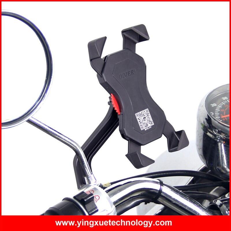 Odier Универсальный Мотоцикл держатель сотового телефона скутер зеркало горе заднего вида держатель для 3.5-6.5 дюймов смартфонов