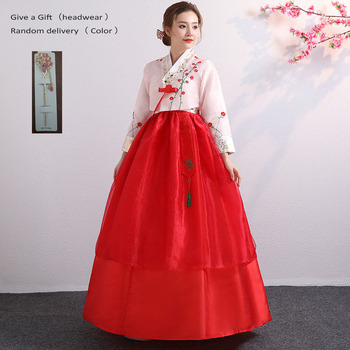 a81d68bb3 Trajes de actuación tradicionales Hanbok coreanos para mujeres elegante  Hanbok Palacio Corea traje de baile Oriantal de boda