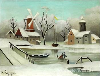 modern art abstract Der Winter (L Hiver). by Henri Rousseau High quality Handmade