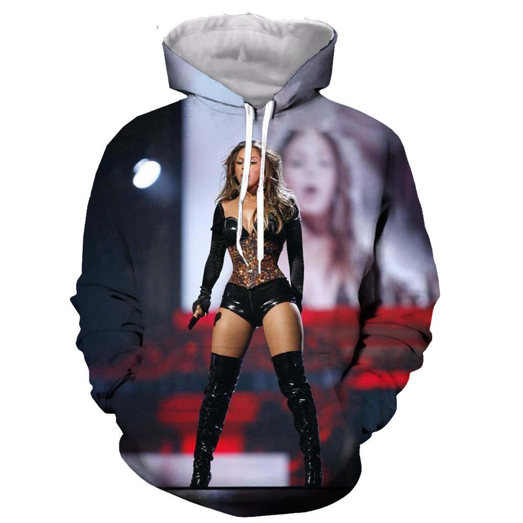 3D Print Men Hoodie Sweater Sweatshirt queen Beyonce  Jacket Pullover Tops