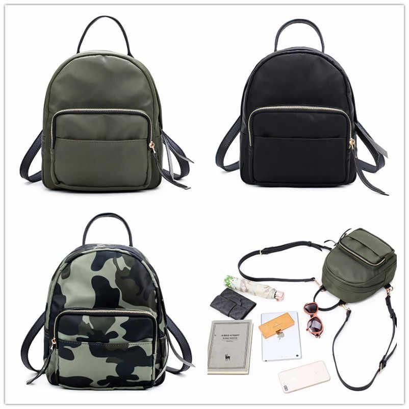 Miyahouse Оксфорд маленький размер женский рюкзак Повседневная камуфляжная школьная сумка для девочек-подростков простой стиль женский рюкзак