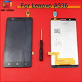 Black white TOP Quality Full LCD Display Touch Screen Digitizer Assembly For Lenovo A536 Smartphone Replacement Parts