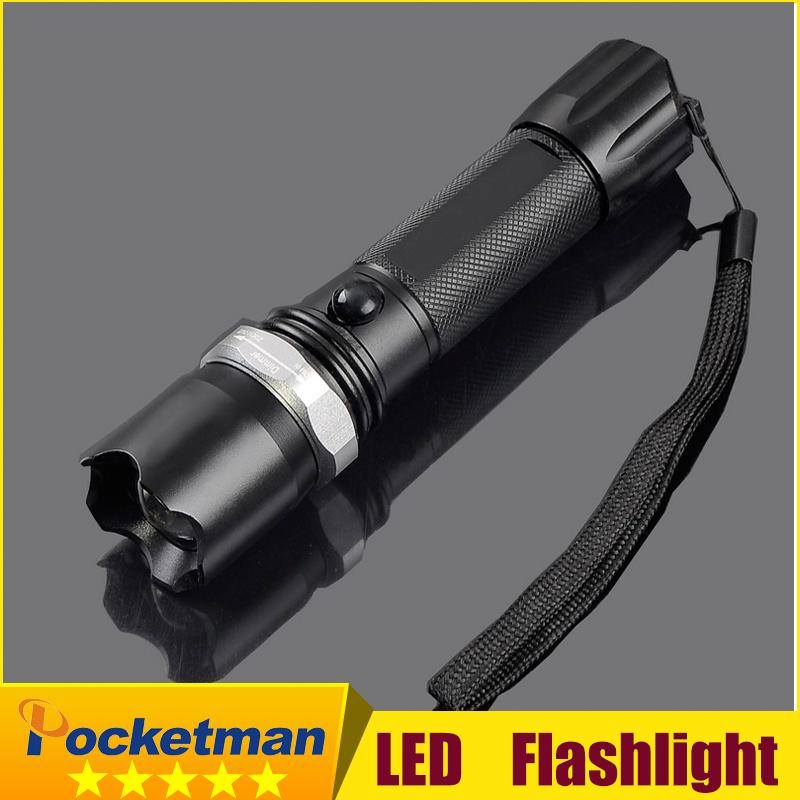High-quality Cree Q5 Led Torch light Aluminum Alloy black 3 modes Adjustable led flashlight For 3xAAA or 1x18650 Free shipping hzdz q 5 bicycle aluminum alloy gasket washer silver black blue red golden 5 pcs