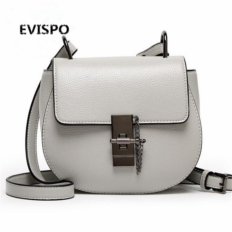 ФОТО EVISPO Brand Designer 2017 Women's Genuine Leather Vintage Single Shoulder Bag Women Crossbody Bags Handbags For Ladies#