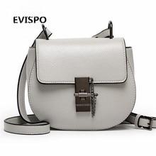 EVISPO Brand Designer 2017 Women's Genuine Leather Vintage Single Shoulder Bag Women Crossbody Bags Handbags For Ladies#