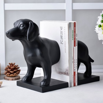Very Cute Black Dog Bookends Great Creative Cartoon Book End Beautifully Decorated Office Storage Nice Crafts
