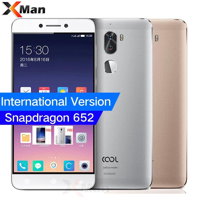 Original Letv Cool 1 Leeco Coolpad Cool1 Mobile Phone 3GB/4GB RAM 32GB/64GB ROM Snapdragon 652 5.5 FHD 13MP Dual Back Cameras