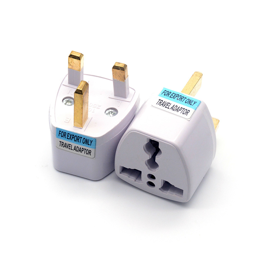 Universal <font><b>3Pin</b></font> <font><b>UK</b></font> HK AC Travel Power <font><b>Plug</b></font> US/EU/AU To <font><b>UK</b></font>/HK 3 Pin Socket Convert Converter <font><b>Plug</b></font> Adapter for Travel Use image