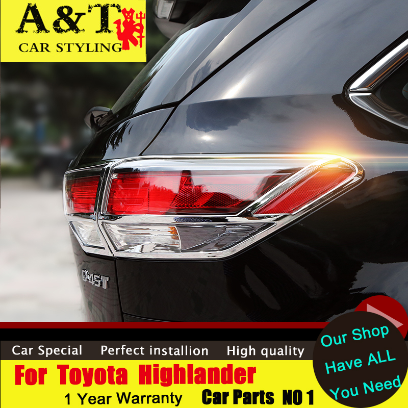 car styling For Toyota Highlander Tail lamp chrome strips 2015 2016 kluger car special modified taillights fr Car Accessories stainless steel strips for toyota highlander 2011 2012 2013 car styling full window trim decoration oem 16 8