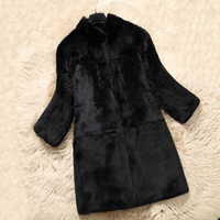 Fur Real Plus Size Women Tops Rex Rabbit Fur Coat Real Fur Jacket Winter Warm Big Brand Fur Tops wsr469
