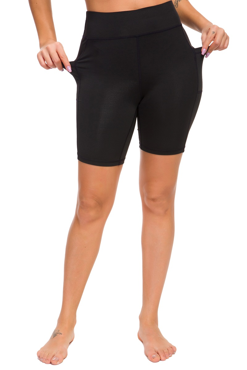 High Waist Solid Yoga Shorts Women Workout Fitness Sports Leggings Skinny Elastic Slim Tummy Control Gym Athletic Shorts Female