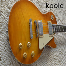 ФОТО china kpole in stock 1959 r9 honey burst lp style standard best tiger fire electric guitar free shipping