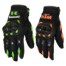 Мода Новые Полный Палец Перчатки Мотоцикл Мотокросс Luvas Guantes Зеленый Orange Moto Защитные Gears Перчатки Для Мужчин Бесплатная Доставка
