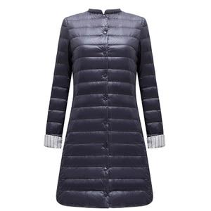 Image 1 - FTLZZ ульсветильник Кая длинная куртка на утином пуху, женское весеннее теплое пальто с подкладкой, женские куртки, пальто, зимнее пальто, портативные парки