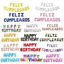 Feliz cumplanos balões de letras espanha, feliz aniversário, dia das bruxas, decoração de festa de aniversário, chá de bebê