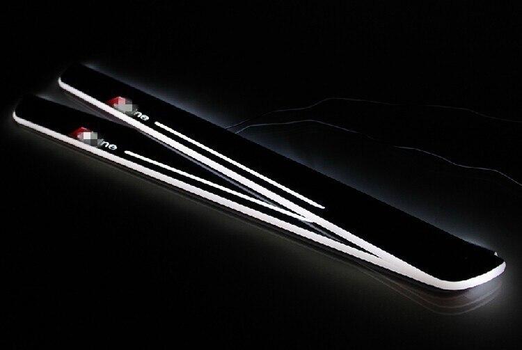 eOsuns Acrylic LED moving door scuff door plate sill light for audi A3/S3 A5 A1 A5/S5/RS5 A6L C7 A7/S7/RS7 Q5 Q3 Q7, Sline logo доска для объявлений dz j1a 169 led led jndx 1 s a
