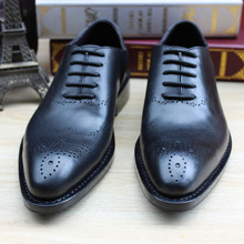 SKP112 Custom Made Goodyear 100% Genuine Leather Handmade Oxfords Shoes, Men's Handcraft Dress Formal Shoes Large/Plus Size