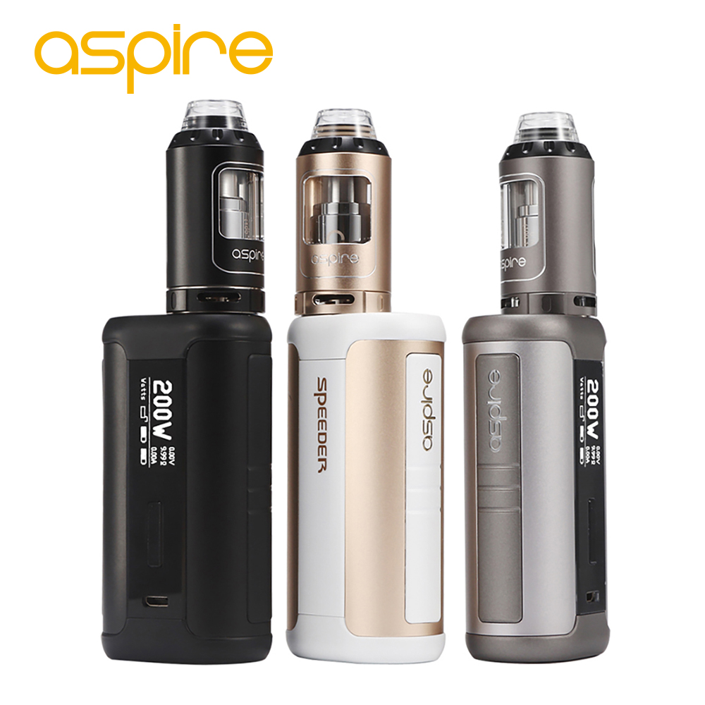 Original 200W Aspire Speeder TC Kit 4ml Athos Tank Vape Atomizer Top Filling Kit Dense Clouds Speeder Box MOD No 18650 Battery electronic cigarette kit original ijoy captain pd1865 tc vape kit rdta 5s tank 2 6ml atomizer captain pd1865 box mod 225w