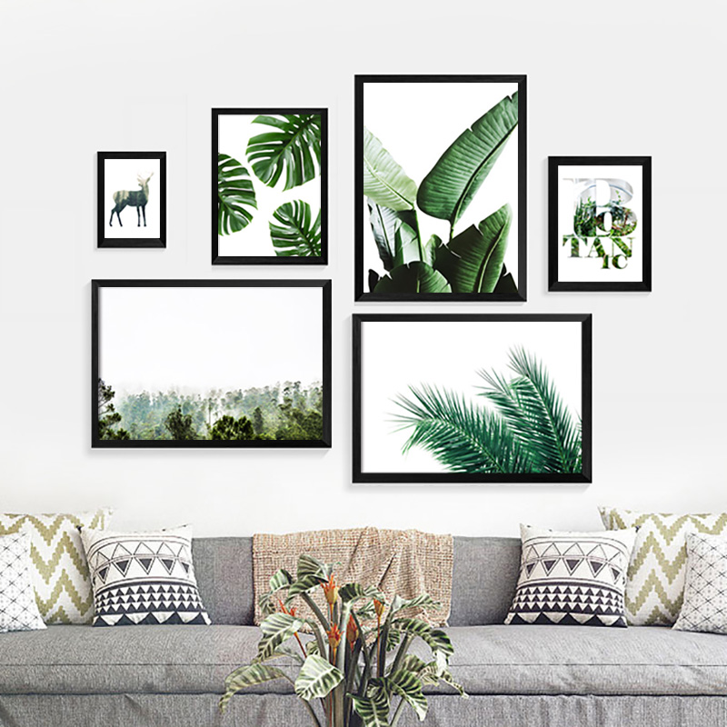 New cuadros leaves nordic decoration posters and prints - Posters gigantes para pared ...