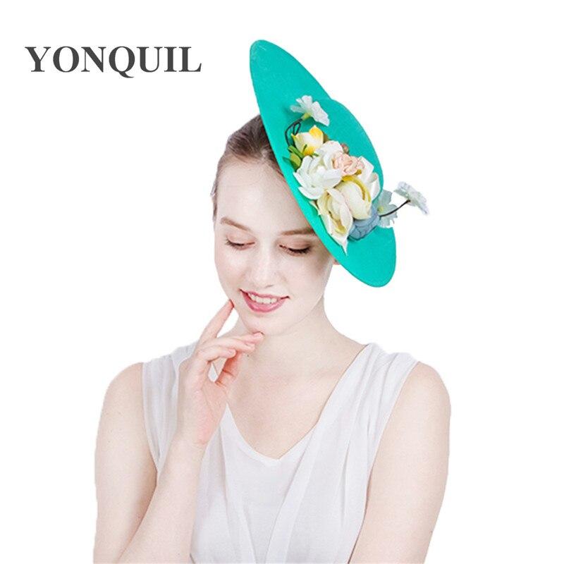 47b0101ea9a24 Imitation Sinamay Fascinator Hats with silk flower Kentucky Derby ...