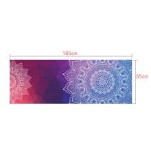 Classic Mandola Yoga Towel 183*65 Diamond Texture Non Slip Portable Travel Yoga Mat