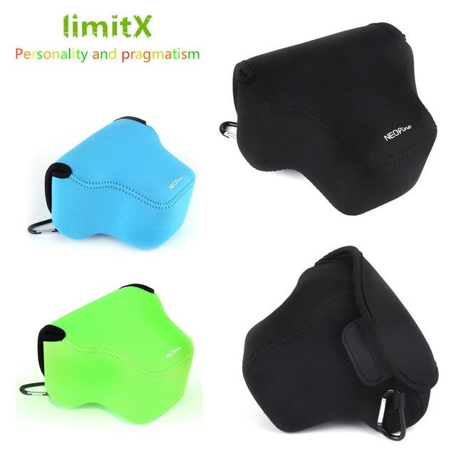 LimitX Neopren Yumuşak Su Geçirmez Iç Kamera Kılıf Kapak Çanta Fujifilm X E3 X E2s X E2 X E1 XE3 XE2 XE2s XE1 18  55mm Lens