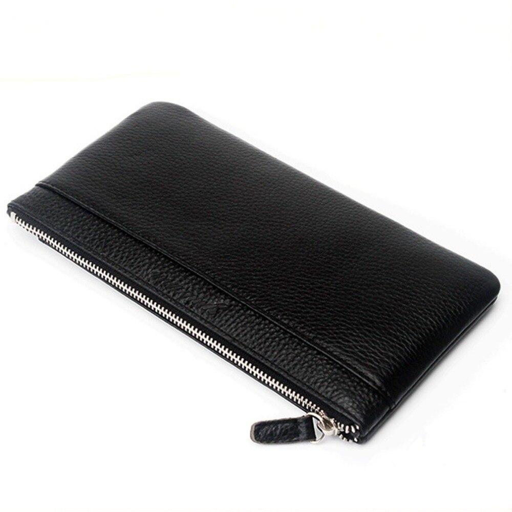 Analytisch Hohe Qualität Neue Männer Rindsleder Echtes Leder Telefon Clutch Tasche Fall Tasche Geldbörse Männlichen Karte Halter Pack Vintage Brieftasche