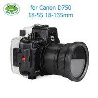 Камера Водонепроницаемый Корпус чехол для Canon EOS D750 Подводные 40 м Photograpy Камера аксессуар дайвинг оборудования сигнализация утечки комплект