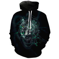 Cloudstyle 2018 3D Hoodies Men 3D Wolf Print Fashion Casual Hoody Sweatshirts Soft Pullovers Spring Tops Plus Size 5XL