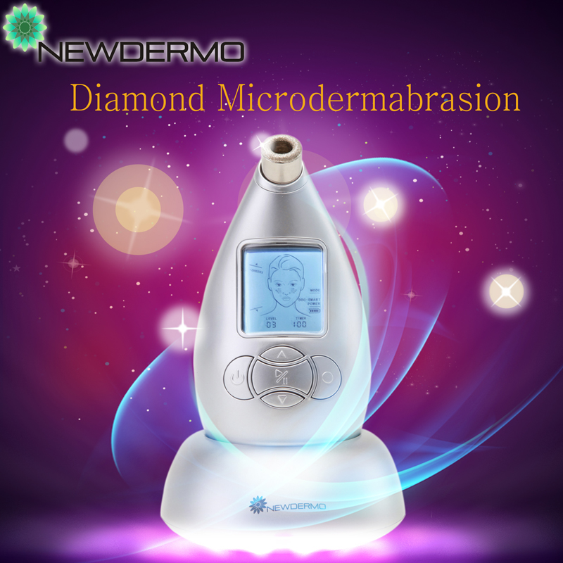Silver Personal Diamond Microdermabrasion Machine For Removing Eye Bags Acne Marks Free Shipping microdermabrasion machine professional acne vacuum microdermabrasion diamond microdermabrasion machine