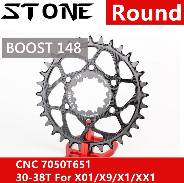 Stone Chainring Round for Sram Boost 148 GXP 3MM Offset X9 X0 XX1 X01 30t 32 34t 36 38T Cycling Bike Direct Mount Chainwheel Stone Chainring Round for Sram Boost 148 GXP 3MM Offset X9 X0 XX1 X01 30t 32 34t 36 38T Cycling Bike Direct Mount Chainwheel