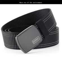 ENNIU Military Tactical Belt Men High Quality Nylon Outdoor Sport Metal Automatic Buckle Canvas Army Belts Jeans Accessories