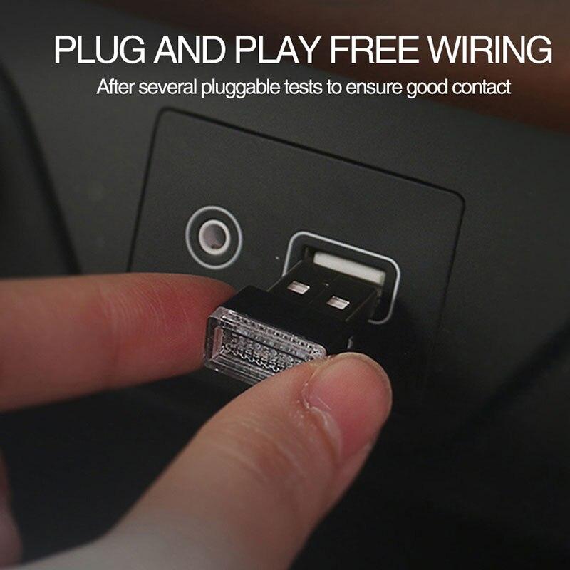 USB Night Light Car Atmosphere Lamp Emergency Lighting Universal PC Portable Plug And Play