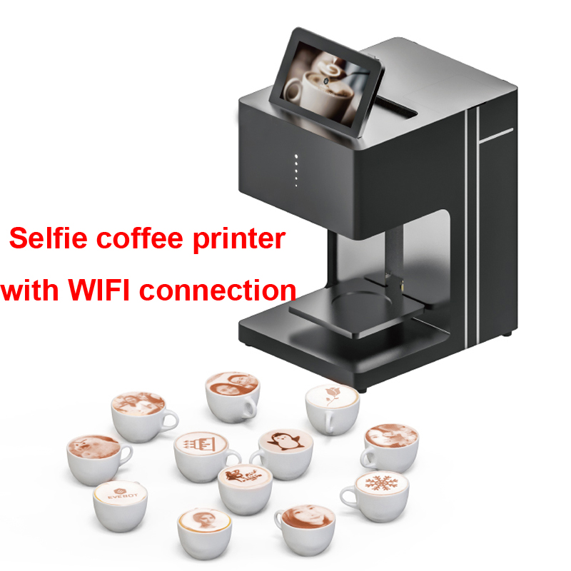 Art Coffee Printer Latte Coffee printer Fully automatic printer Art Beverages Food selfie coffee with WIFI connection printing coffee and food printer inkjet printer selfie coffee printer full automatic latte coffee printer with 8 inch tablet pc