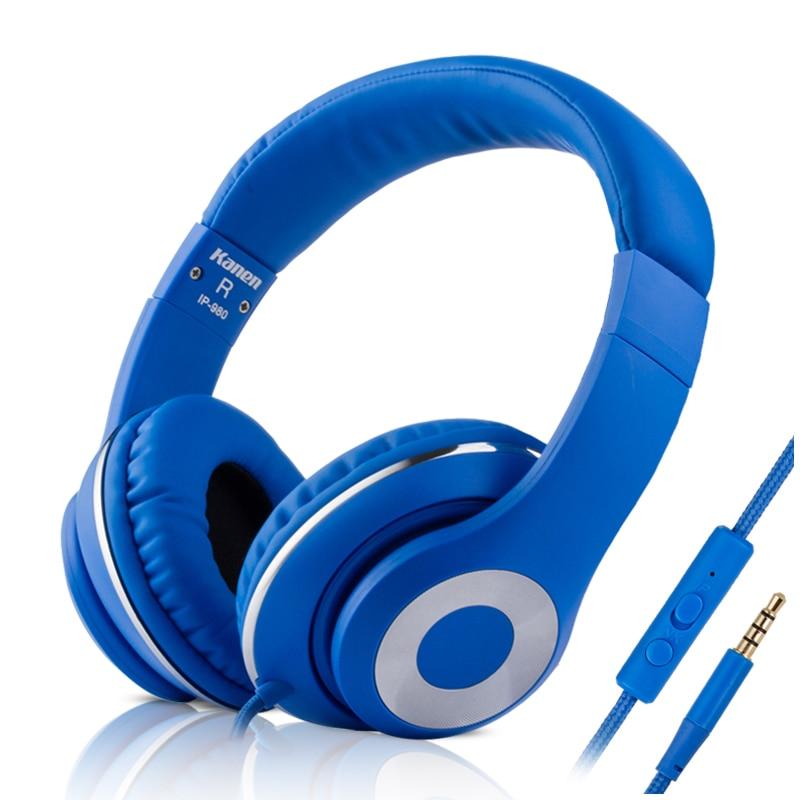 Kanen Ip 980 Fashion Blue Over Ear Super Bass Headphones