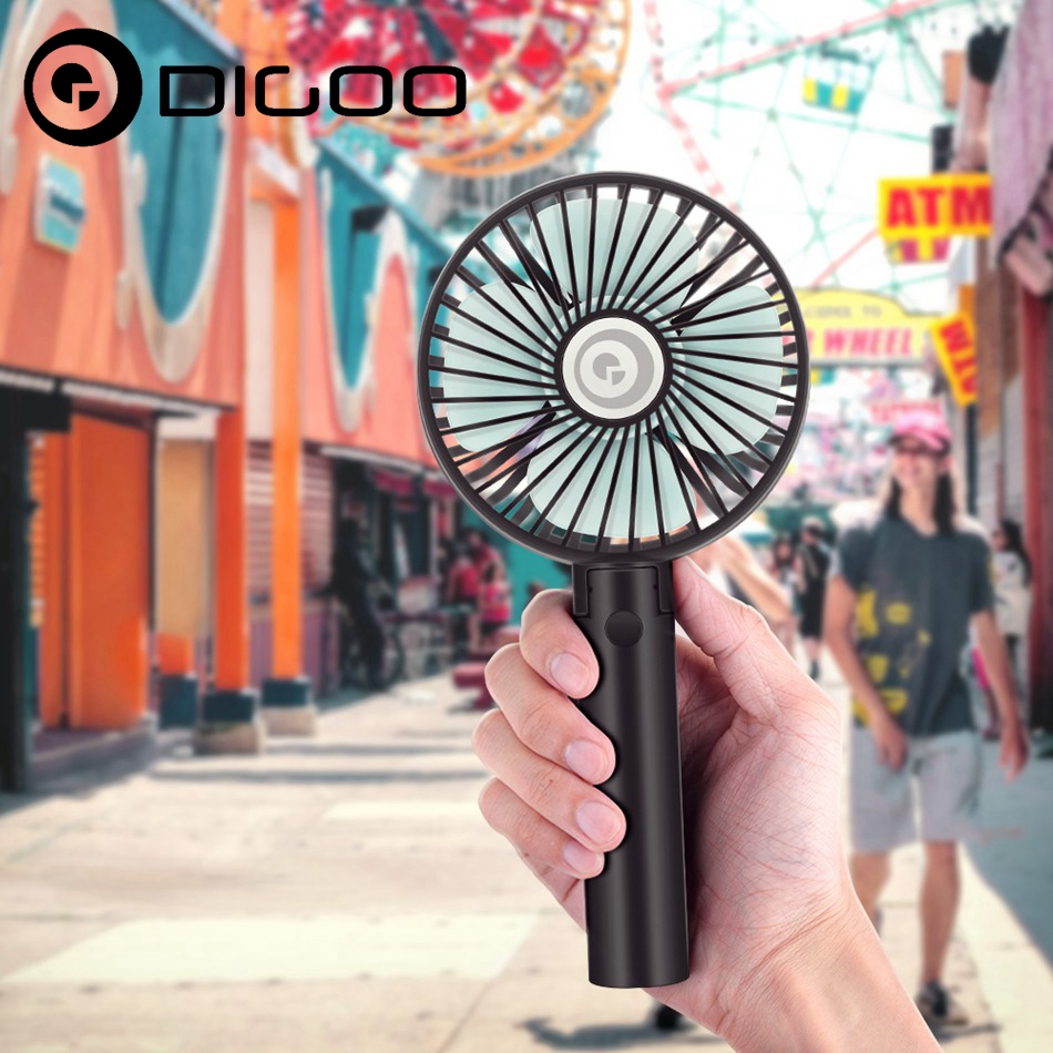 Digoo DF-004 Foldable USB Charging Fan Portable Mini Handheld Speed Adjustable Cooling Fan Regulation for Smart Home Automation mini portable charging foldable