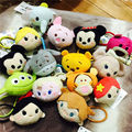 4 pcs Tsum mini lot plush hair bands Minnie Mickey mouse Winnie Duffy Stitch Dumbo figure Hair rope for girl gift free shipping