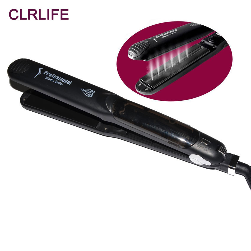 CLRLIFE Tourmaline Ceramic Argan Oil Steam Spray Hair Straightener Flat Iron Vapor Plate Straightening Hair Care Styling Tools led display floating spray steam hair straightener hair flat iron curler curling irons ceramic straightening plate styling tools